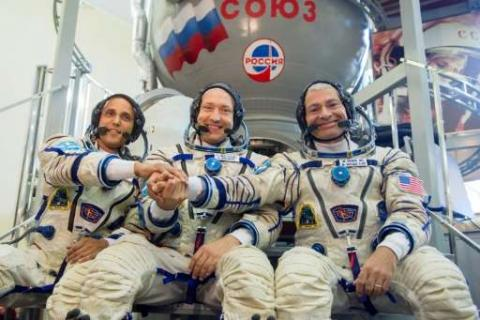 3  Astronauts Reach ISS For Five-Month Mission