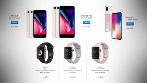 iPhone X, iPhone 8, iPhone 8 Plus, Apple Watch Series 3