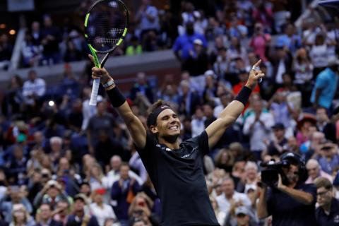Rafael Nadal raced to a third US Open title