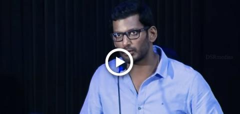 Actor Vishal's Sarcastic comparison with Politician