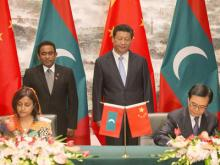 The Maldives has signed 12 agreements with China