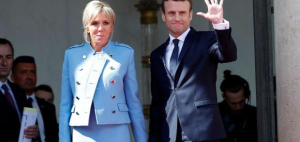 French President Emmanuel Macron visits Luxembourg