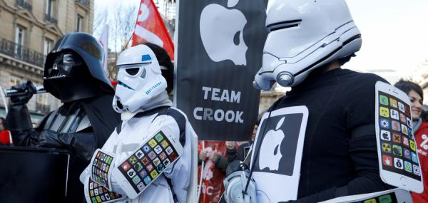Apple loses bid to ban protests by French tax campaign group at its stores